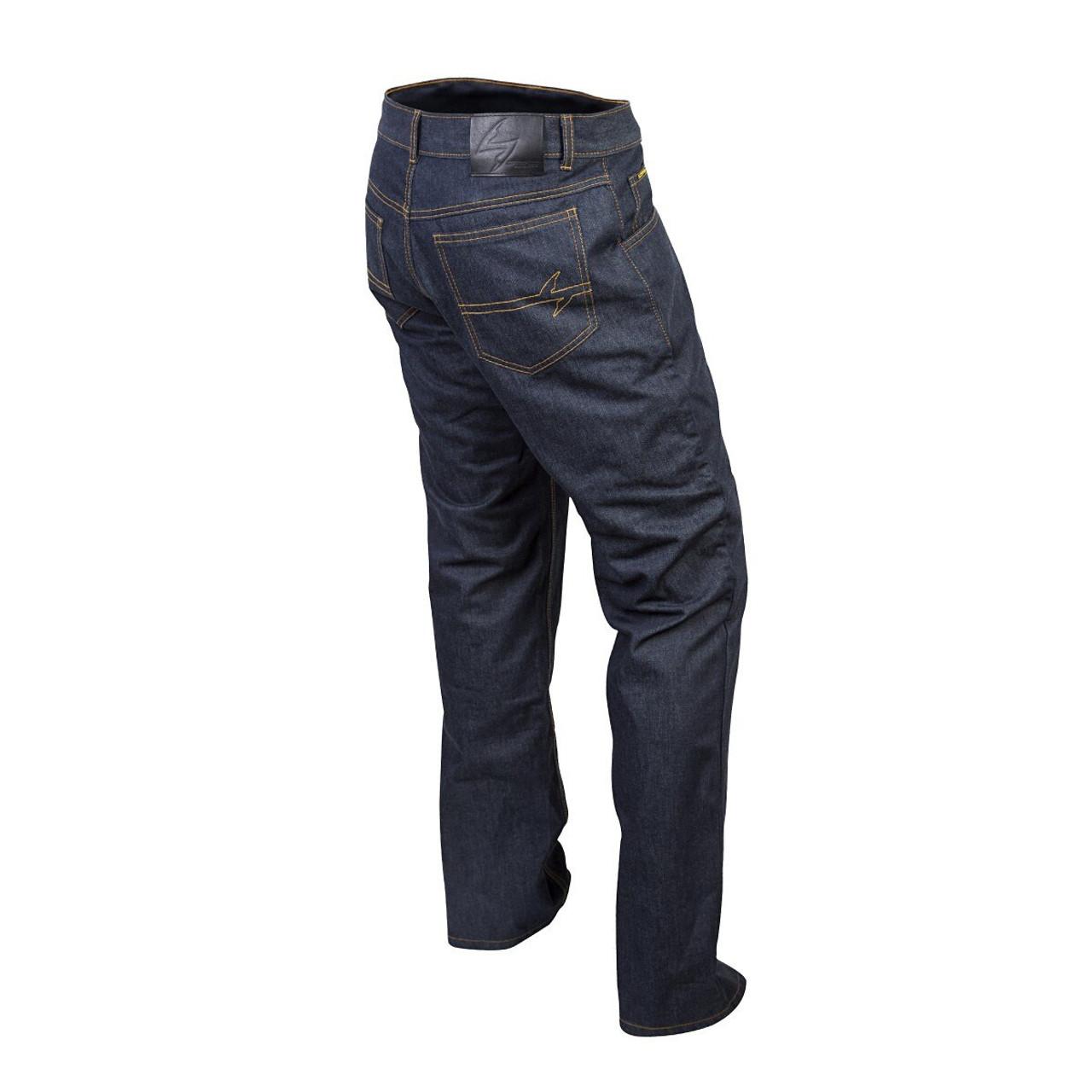 36 Blue Scorpion Men/'s COVERT DUPONT KEVLAR-Lined Denim Riding Jeans