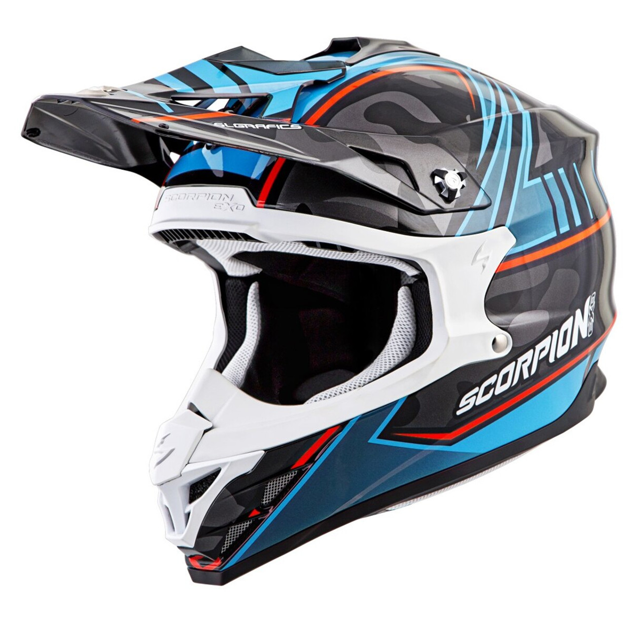 Neon Blue Ascend//One Size Scorpion Peak Visor Vx-R70 Motorcycle Helmet Accessories