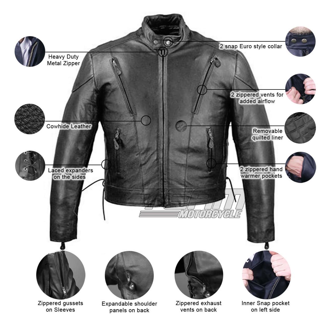 **MADE IN USA** 6 4 Skull Side Lace Vest Extenders Boot Buy 2 Biker Jacket