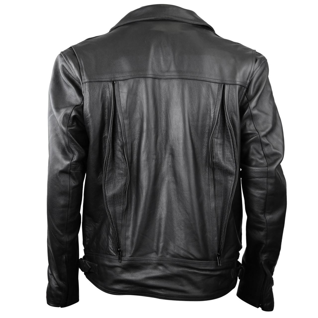 NEW Child Black Leather Vests Detour Motorcycle Gear