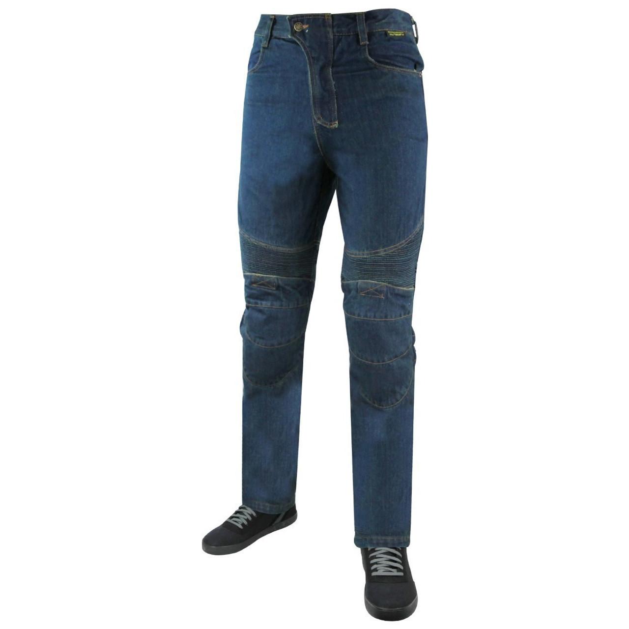 "Motorcycle Jeans Mens Kevlar Waterproof Rmoured Motorbike Trousers Protective Lining Biker Cargo Reinforced Padded Armour Jean Trouser Pant Black-XS=29.5/"" 75cm Waist"