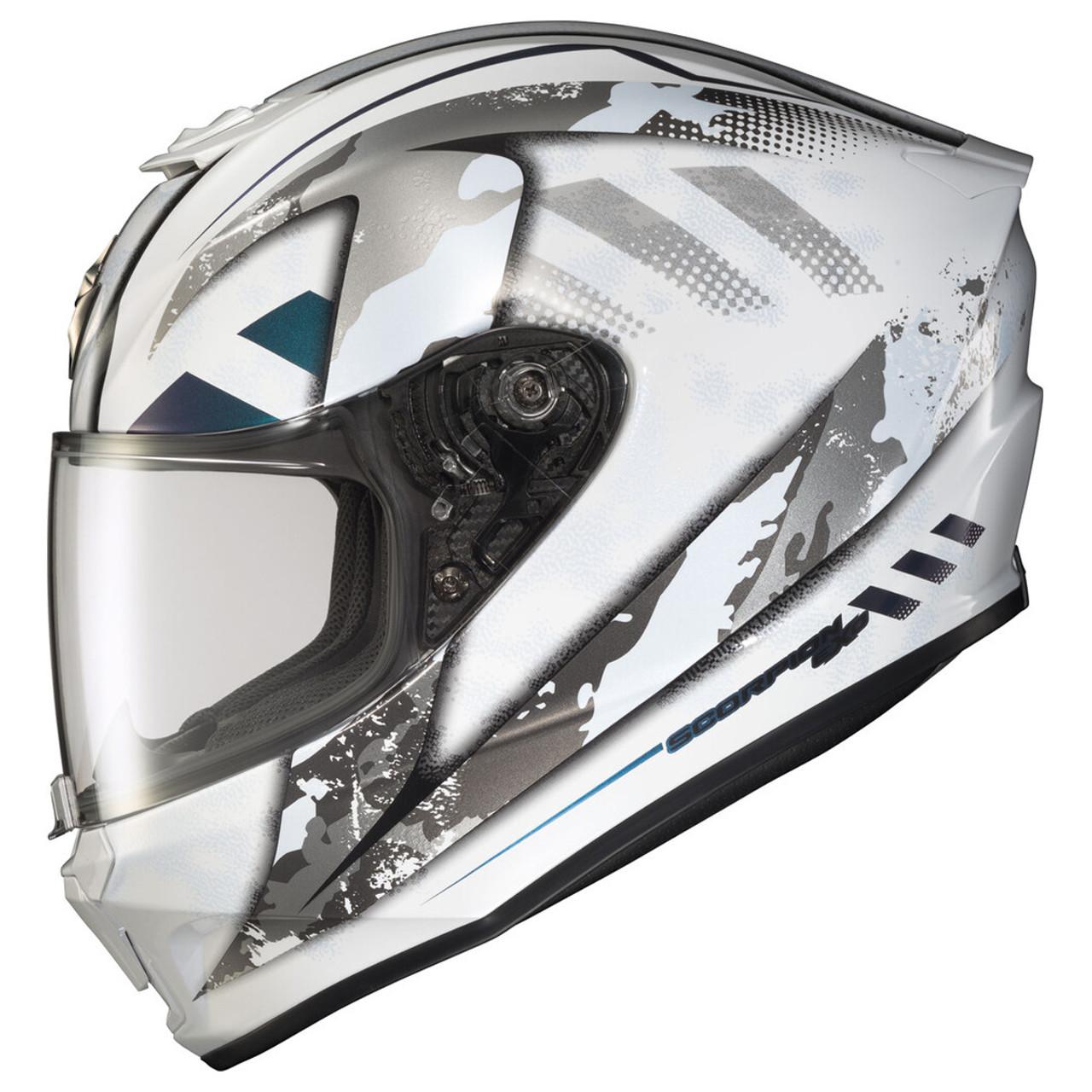 Scorpion EXO-R420 Shake Helmet White//Black White, Large