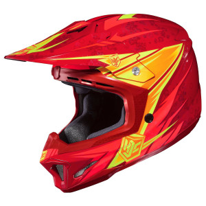 HJC CL-X7 Pop N Lock Helmet-Red