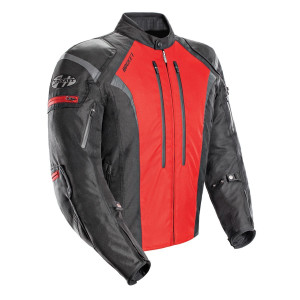Joe Rocket Atomic 5.0 Waterproof Mens Textile Motorcycle Jacket - Red