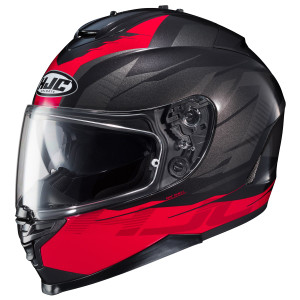 HJC IS-17 Tario Helmet - Black/Red