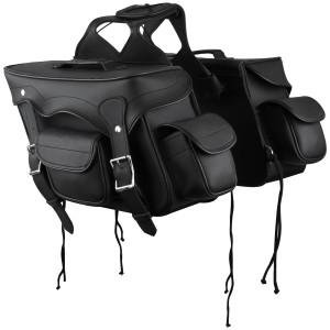 Small Double Pocket Plain PVC Motorcycle Saddlebags