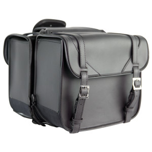 Leather Like PVC Biker Saddlebags