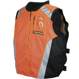Joe Rocket Mens High Visibility Orange or Yellow Military Spec Motorcycle Vest