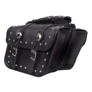 Studded Motorcycle Saddlebags