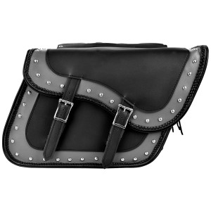 Two Tone Zip-Off Motorcycle Saddlebags