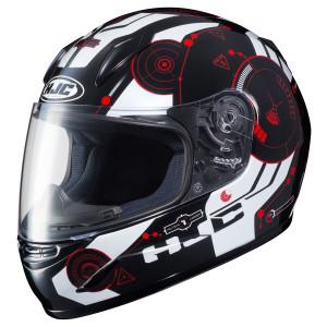 HJC Youth CL-Y Simitic Helmet - Black/Red