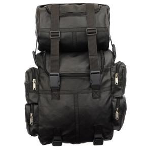 Jafrum SB1 PU Black Expandable Motorcycle Luggage Travel Backpack Rucksack Sissy Bar Bag