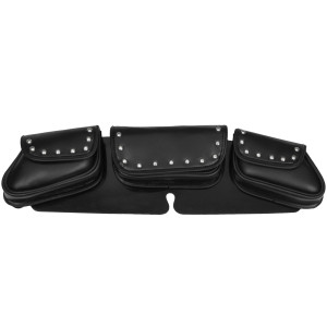 Vance WS23 Black Studded Motorcycle Windshield Bag