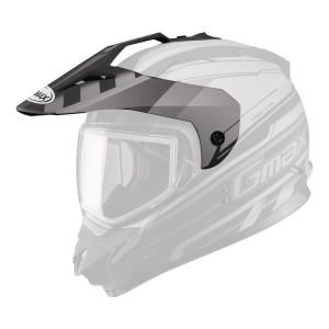 GMax GM11D Dual Sport Helmet Replacement Visor - Black Silver