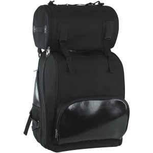 Vance VS1353 Black Large Deluxe Motorcycle Luggage Travel Touring Sissy Bar Bag