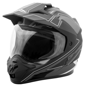 GMax GM11D Expedition Dual Sport Helmet-Black/Silver
