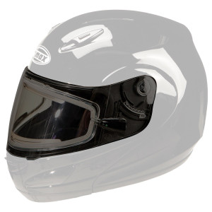 GMax GM44S Helmet Dual Lens Electric Flip Shield with Holes