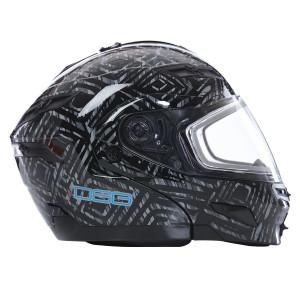 GMax GM54S DSG Aztec Snow Helmet With Dual Lens-Black