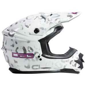 GMax DSG GM76X Leopard Helmet-White