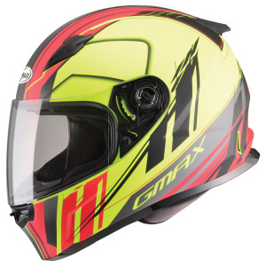 GMax FF49 Rogue Helmet - Yellow/Red