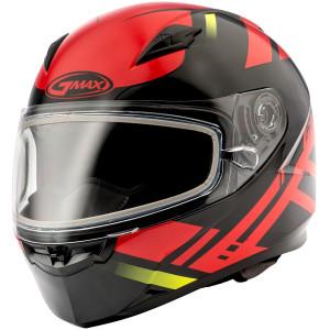 GMax FF49 Berg Snow Helmet-Black/Red