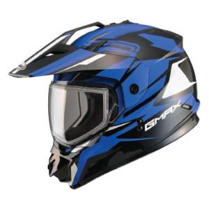 GMax GM11S Vertical Snow Sport Helmet-Black/Blue