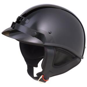 Gmax GM35F Half Helmet-Black