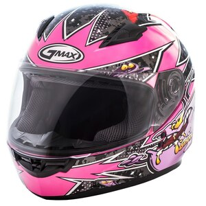 GMax Youth GM49Y Alien Helmet-Black/Pink