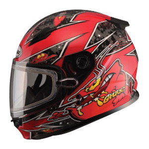 GMax Youth GM49Y Alien Snow Helmet-Red