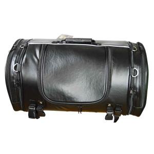 Vance VS365 Black Expandable Motorcycle Luggage Travel Sissy Bar Roll Bag