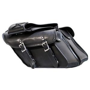 Vance VS214B Plain Motorcycle Saddlebags for Harley Davidson Dyna Motorcycles