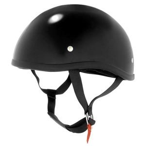 Skid Lid Black Half Helmet