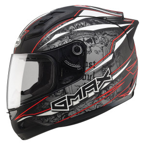 Gmax GM69 Mayhem Helmet-Red