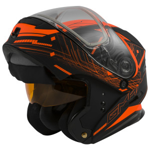 GMax MD01 Wired Hi-Viz Snow Modular Helmet