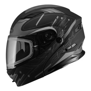GMax MD01 Wired Snow Modular Helmet - Black Silver