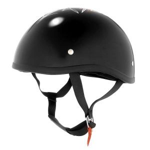 Skid Lid Original Black Street Rod Half Helmet
