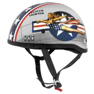 Skid Lid Bomber Pin Up Half Helmet