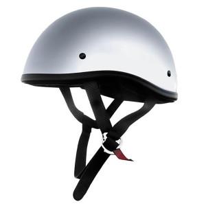Skid Lid Original Chrome Half Helmet