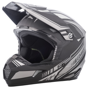GMax Youth MX46 Uncle Helmet - Black/Silver