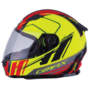 GMax GM49Y Youth Rogue Helmet - Hi-Viz Yellow