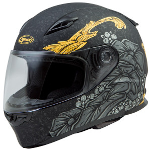 Gmax Women's FF49 Yarrow Helmet - Black/Gold