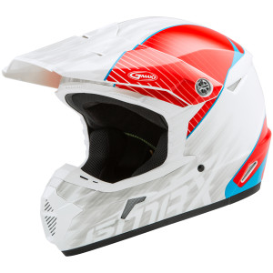 Gmax Youth MX46Y Colfax Helmet - White/Red