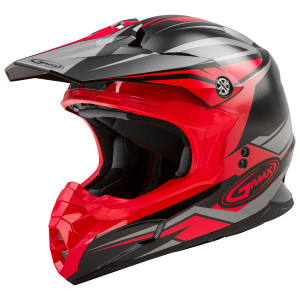 Gmax MX86 Revoke Helmet - Black/Red