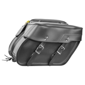 Plain Slanted Motorcycle Saddlebags