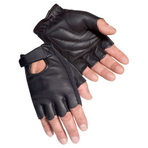 Tour Master Select Fingerless 2.0 Leather Motorcycle Gloves
