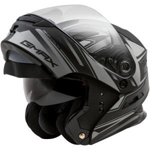 Gmax MD01 Stealth Modular Helmet - Silver