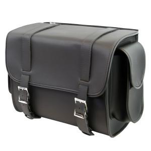 Vance VS318 Medium Black Plain Motorcycle Sissy Bar Bag for Harley Davidson Motorcycles