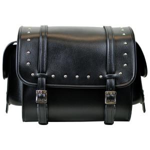 Vance VS319 Medium Black Studded Motorcycle Sissy Bar Bag for Harley Davidson Motorcycles