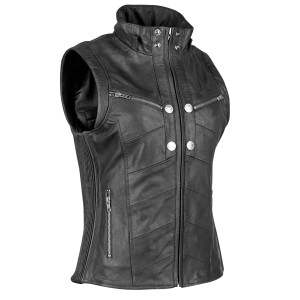 Speed And Strength Hell's Belles Women's Leather Vest - Black