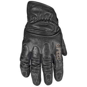 Speed And Strength Rust And Redemption Leather Motorcycle Gloves - Black